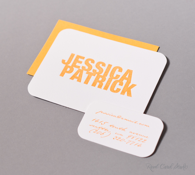 Letterpress printing, Tangerine Tango, Bold Type, Lettra Cotton, Rounded Corners