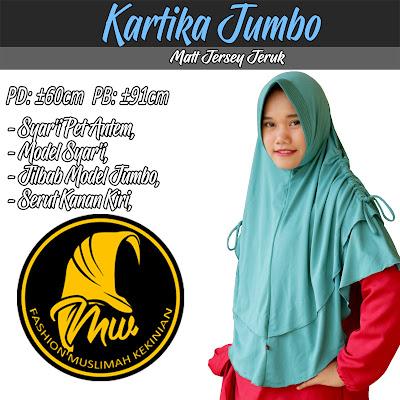 Jilbab bergo jumbo model serut samping kiri dan kanan