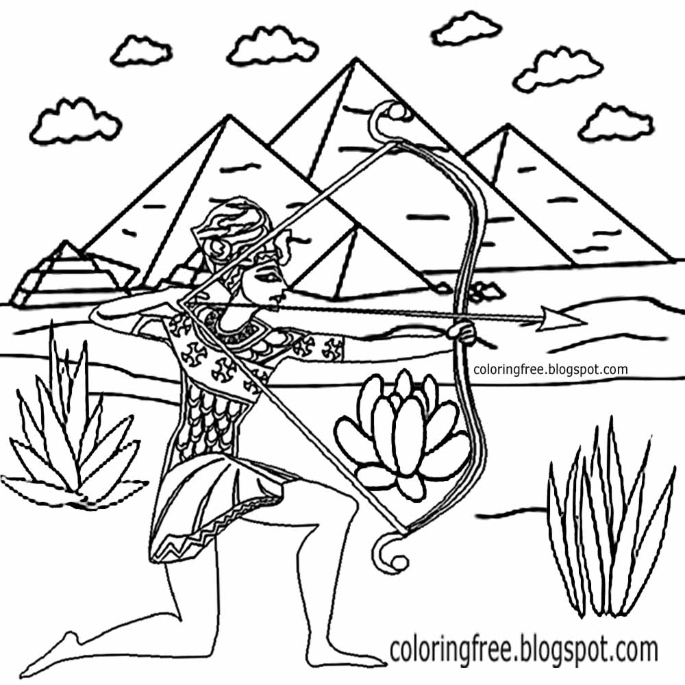pharaoh khufu coloring pages - photo#27