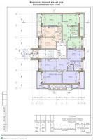 Проект многоквартирного жилого дома в г. Кинешма Ивановской области. 1-й этап строительства. Архитектурные решения - План 1-го этажа