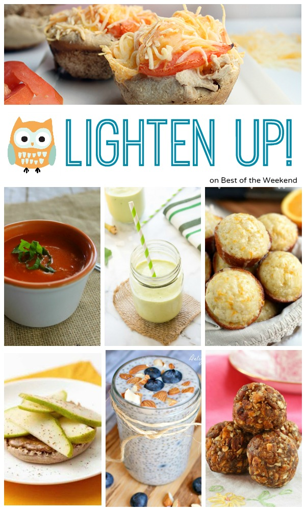 A collection of Lighter Recipes found at Best of the Weekend