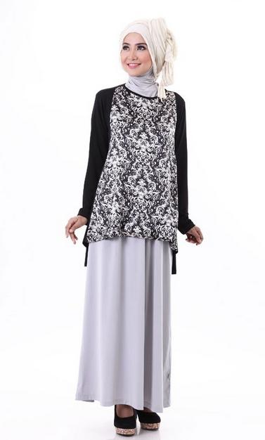 Baju Batik Muslim Terbaru untuk wanita