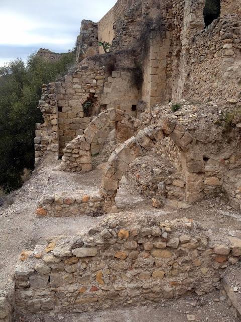 restos del castillo medieval de Xátiva