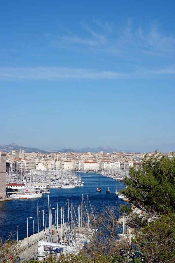 marseille jardins pharo vue vieux port