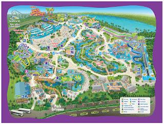 Aquatica Parque Acuatico Parque de agua Tampa Bay FLorida Mapa