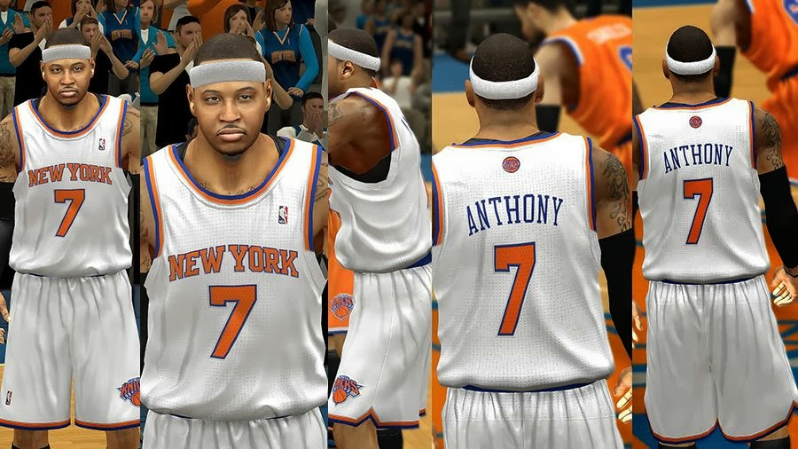 db1b71d82 NBA 2k14 New York Knicks Jersey Patch Pack - HoopsVilla