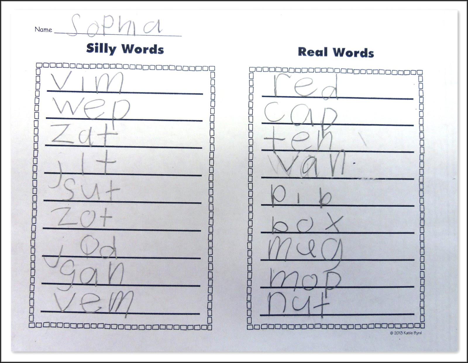 Mrs Byrd S Learning Tree Cvc Word Fluency