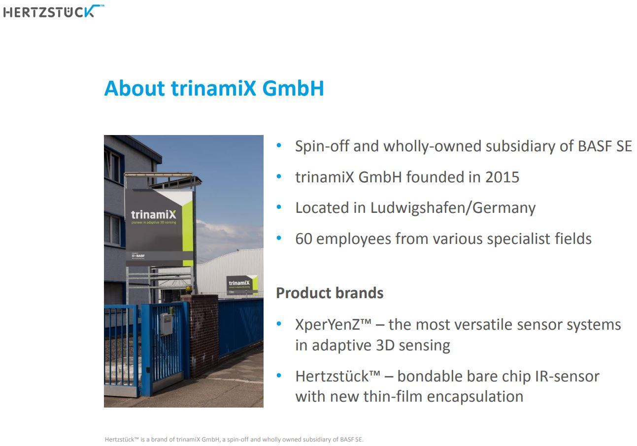 Image Sensors World: Trinamix and Andanta Company Presentations