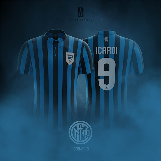 online store a5a47 72cfd Inter Milan 110-Years Anniversary Vintage Kit by ...