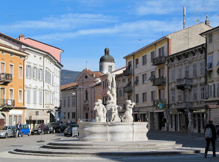 The Piazza della Vittoria is the central square in the town of Gorizia, on the Italian border with Slovenia