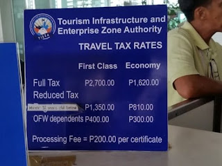 Philippine Travel, Travel Tax Philippines, Philippines Travel Tax Price, Airport Tax Philippines Information, Travel 101, Travel Guide, Tax NAIA, Manila Guide