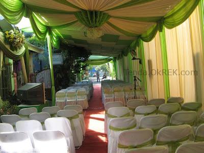 foto dekorasi terop pernikahan / pelaminan - tenda ok rek