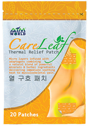 aim global aim world care leaf thermal relief patch