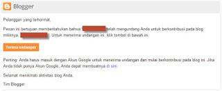 konfirmasi undangan penulis blog