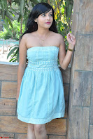 Sahana New cute Telugu Actress in Sky Blue Small Sleeveless Dress ~  Exclusive Galleries 037.jpg