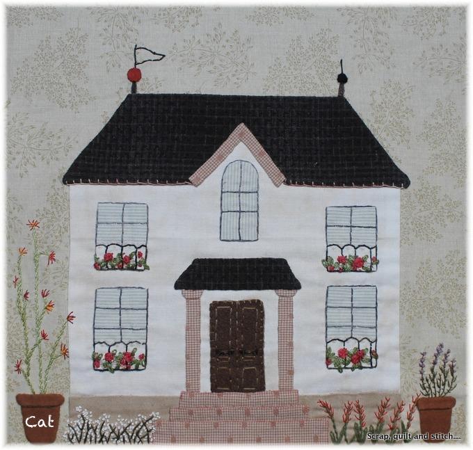 Scrap quilt and stitch cherche maison for Au maison quilts