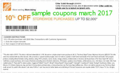 Home depot coupons printable june 2018