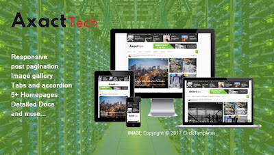 axact responsive blogger template free
