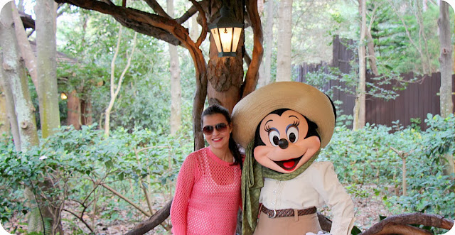 Disney´s Animal Kingdom Camp Minnie Mickey Greetings Trails Campo Minnie e Mickey fotos com a Minnie
