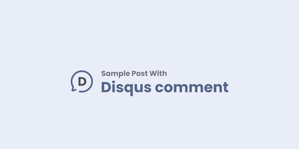 Post with Disqus Comment