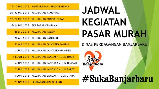 Jadwal Kegiatan Pasar Murah Dinas Perdangan Banjarbaru