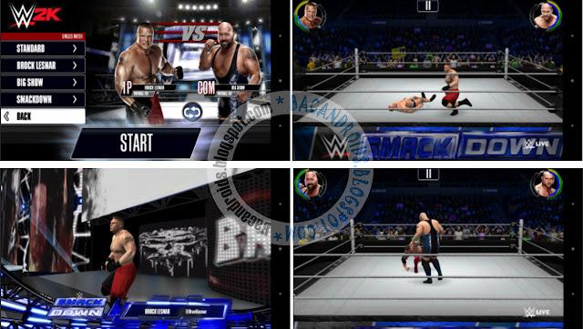 download Game WWE2K Apk + Data(OBB) mod full karakter and item