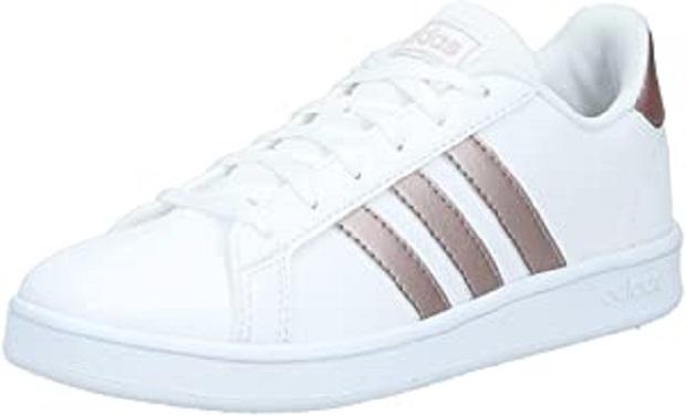 B07RJXNCK5  - adidas Grand Court K, Chaussures de Tennis Mixte Enfant