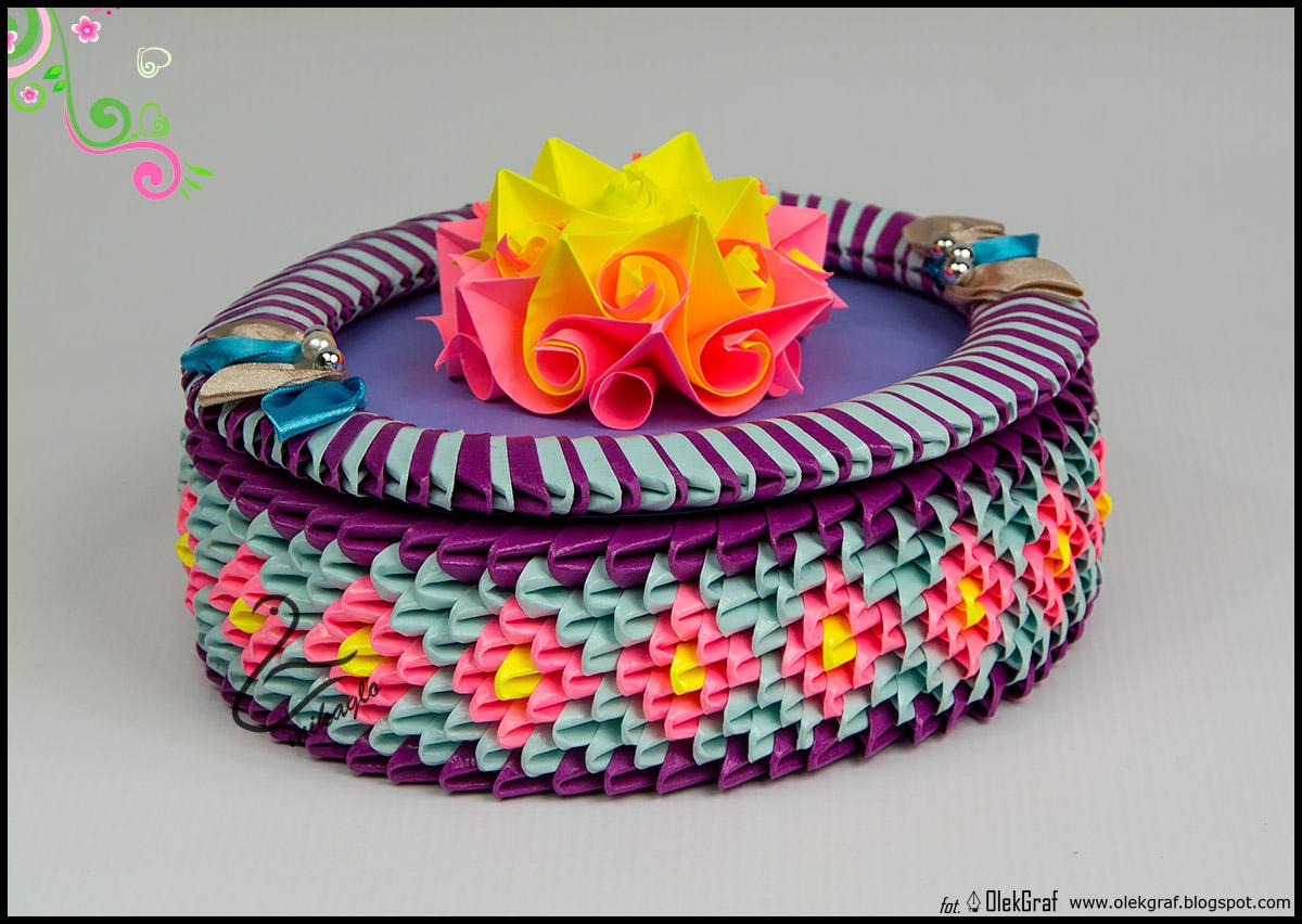 Origami 3d - mikaglo: 174. Pudełeczko na drobiazgi / 3d ... - photo#27