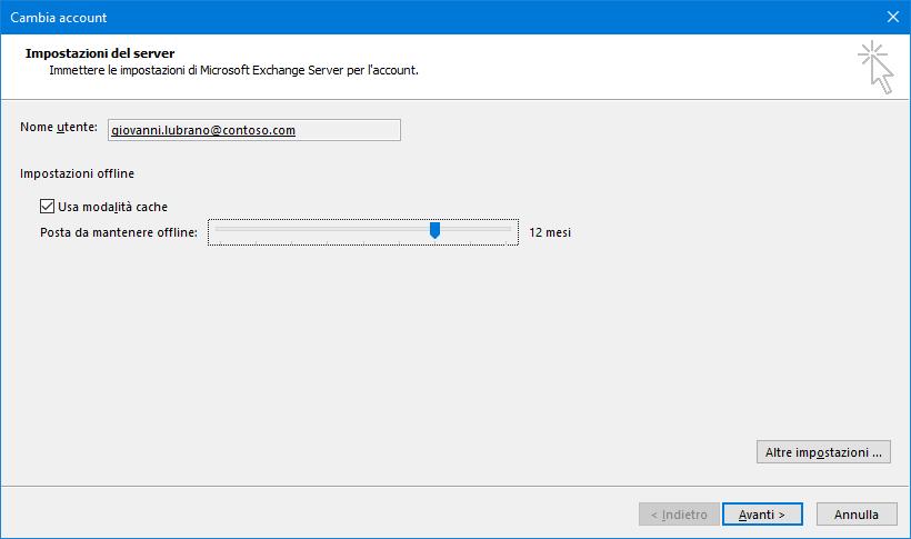 Outlook, Sync Slider