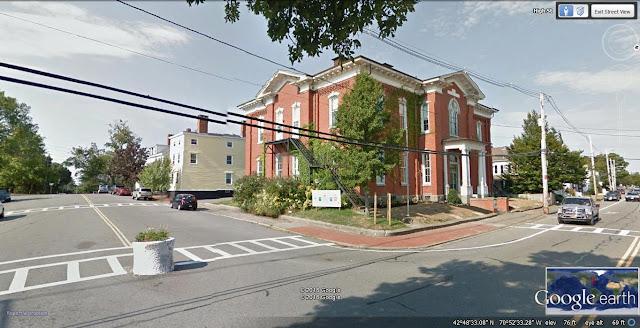 Kelly School, Newburyport, Massachusetts, postcard, google earth