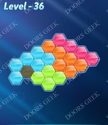 Block! Hexa Puzzle [Intermediate] Level 36 Solution, Cheats, Walkthrough for android, iphone, ipad, ipod