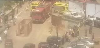 بلأسماء...إصابة 2 في حريق بمطعم شهير بالفيوم