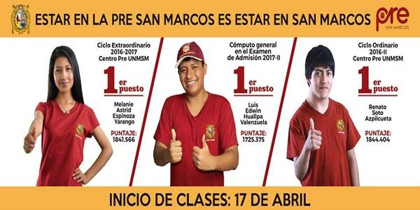 RESULTADOS Pre San Marcos 3er Examen - Ciclo 2017-1