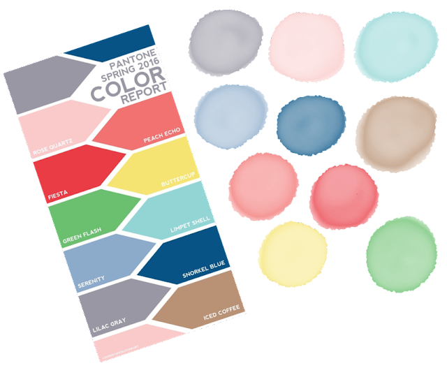 Pantone colours Spring 2016