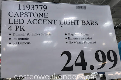 Deal for a set of 4 Capstone LED Accent Light Bars at Costco