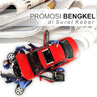 Promosi bengkel dengan iklan koran