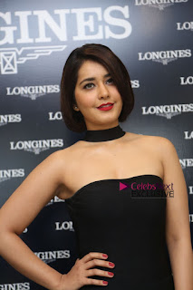 Actress Raashi Khanna Pictures in Black Dress at Longines Watches Launch  0063.JPG