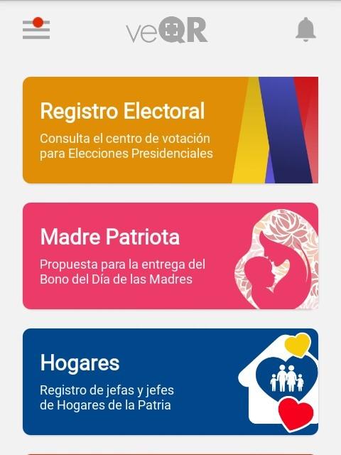 Forma de pago  BONO DEL DÍA DE LAS  MADRES en www.patria.org.ve
