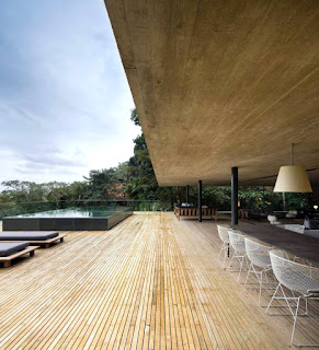 Modern Home Living and Lush Trees Perfect for Each Other in Jungle Home