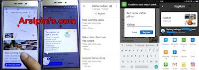 Cara kerja fitur decide with friends pada Google Maps.