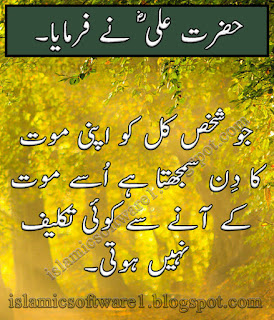 Hazrat Ali A.S sayings in urdu