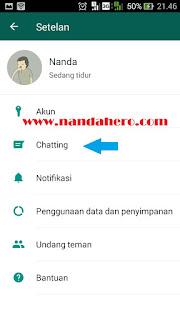 Cara Mengatasi WhatsApp Lemot Akibat Kode dengan menghapus semua chat wa