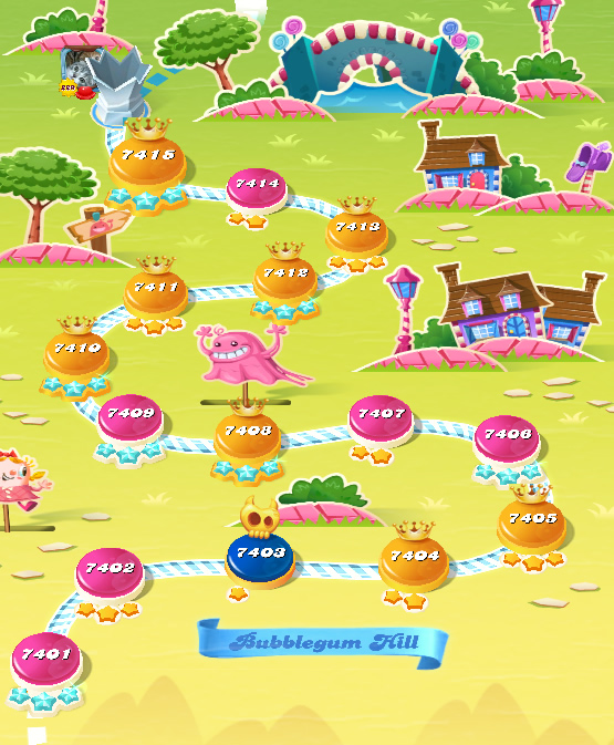 Candy Crush Saga level 7401-7415