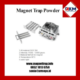 Magnet trap powder