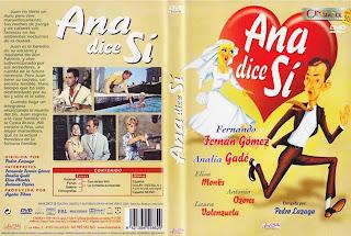 Carátula dvd:Ana dice sí (1958)