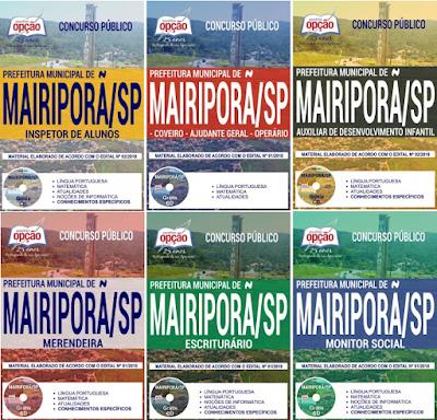 apostila Prefeitura de Mairiporã Concurso Público edital 2018