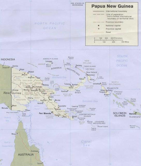 Gambar Peta politik Papua Nugini