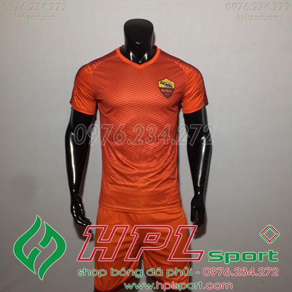 Áo đá bóng câu lạc bộ AS Roma màu cam