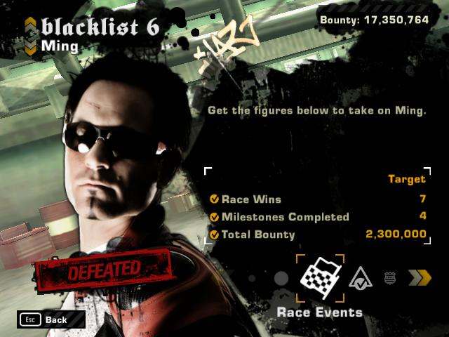 NFS Most Wanted Save Files - Blacklist 1st with all Rival ...