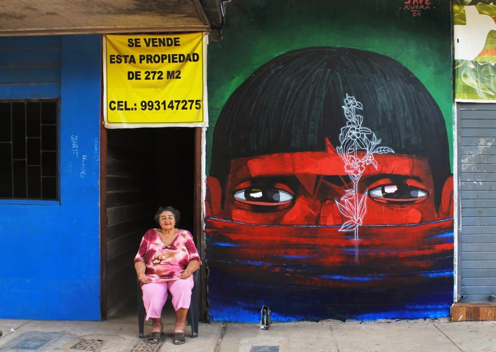 JADE is still in Puerto Maldonado, Peru where he just completed this portrait as part of the Festival Equilibrio.